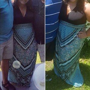 flowy maxi dress.